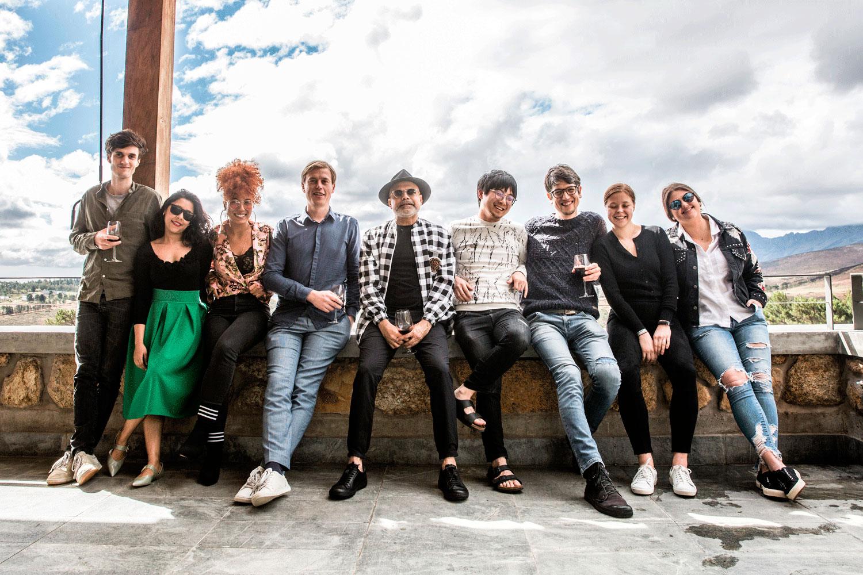Design Indaba Global Graduates 2018 with Design Indaba Founder Ravi Naidoo